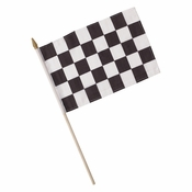 Black and White Check Cloth Racing Flag 12 ct
