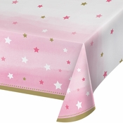 One Little Star Girl Plastic Tablecloths 6 ct