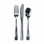 Metallic Assorted Cutlery sold in quantities of 100 / pkg, 3 pkgs / case