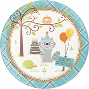 Happi Woodland Boy Dinner Plates 96 ct