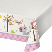 Happi Woodland Girl Plastic Tablecloths 6 ct