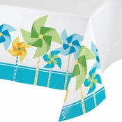 1st Birthday Pinwheel Boy Table Covers 6 ct