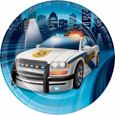 Police Party Dessert Plates 96 ct