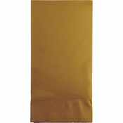 Touch of Color Glittering Gold 3 Ply Guest Towels in quantities of 16 / pkg, 12 pkgs / case