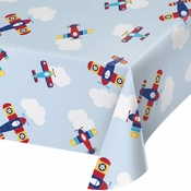 Toy Airplane Plastic Tablecloths 6 ct