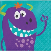 Fun Monsters Beverage Napkins 192 ct