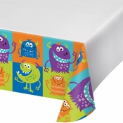 Fun Monsters Plastic Tablecloths 12 ct