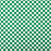 Basket Liner or Sandwich Wrap, Green & White Check 2,000 ct.