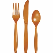 Pumpkin Spice Orange Assorted Plastic Cutlery 288 ct