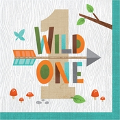 Wild One Woodland Luncheon Napkins 192 ct