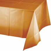 Pumpkin Spice Orange Plastic Tablecloths 12 ct