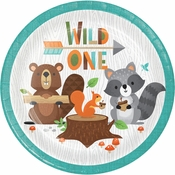 Wild One Woodland Dessert Plates 96 ct