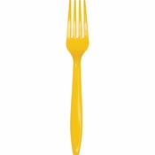 School Bus Yellow Plastic Forks 288 ct