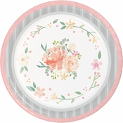 Country Floral Paper Banquet Plates 96 ct