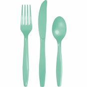 Fresh Mint Green Premium Assorted Cutlery 288 ct