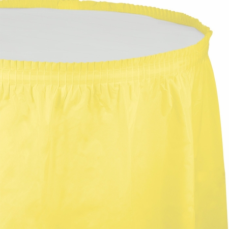 Touch of Color Mimosa Plastic Tableskirt in quantities of 1 / pkg, 6 pkgs / case