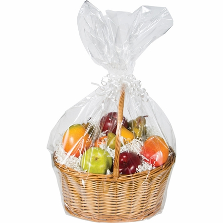 Large Clear Basket Bags 12 ct