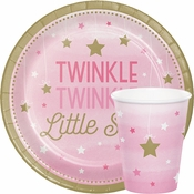 One Little Star Girl Baby Shower Supplies