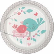 Hello Baby Girl Dessert Plates 96 ct