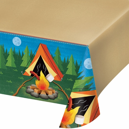 Camping Plastic Tablecloths 6 ct