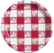 Red Gingham Dinner Plates 96 ct