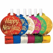 New Year Glitter Party Blowers 72 ct