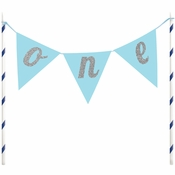 1st Birthday Boy Cake Banners 12 ct