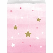 One Little Star Girl Paper Treat Bags 120 ct