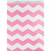 Candy Pink Chevron Treat Bags 120 ct