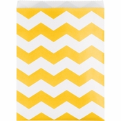 School Bus Yellow Chevron Treat Bags 120 ct