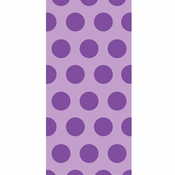 Amethyst Purple Polka Dot Favor Bags 240 ct