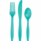 Teal Lagoon Plastic Cutlery Sets 288 ct