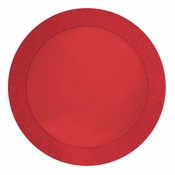 14 inch round Red Glitz Placemat with Glitter Border is sold in bulk quantities of 8 / pkg, 12 pkgs / case