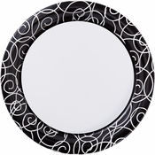 Silver Swirl Dinner Plates 200 ct