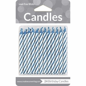 Blue Striped Candles 288 ct