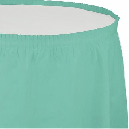 Fresh Mint Green Plastic Tableskirt 6 ct