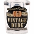 Vintage Dude 2 oz Shot Glasses 6 ct