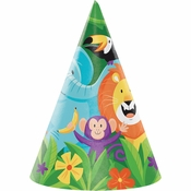 Jungle Safari Party Hats 48 ct