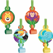 Jungle Safari Party Blowers 48 ct