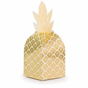 Golden Pineapple Favor Boxes 48 ct