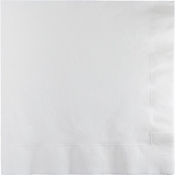 Touch of Color White 2 Ply Luncheon Napkins in quantities of 50 / pkg, 12 pkgs / case
