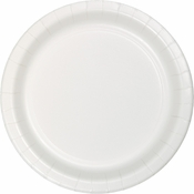 Touch of Color White Dessert Plates in quantities of 24 / pkg, 10 pkgs / case