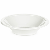 Touch of Color White 12 oz Plastic Bowls in quantities of 20 / pkg, 12 pkgs / case