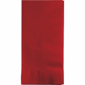 Touch of Color Classic Red 2 Ply Dinner Napkins in quantities of 50 / pkg, 12 pkgs / case