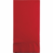 Touch of Color Classic Red 3 Ply Guest Towels in quantities of 16 / pkg, 12 pkgs / case