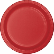 Touch of Color Classic Red Banquet Plates in quantities of 24 / pkg, 10 pkgs / case