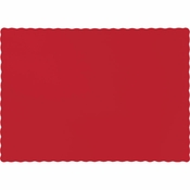 Touch of Color Classic Red Paper Placemats in quantities of 50 / pkg, 12 pkgs / case