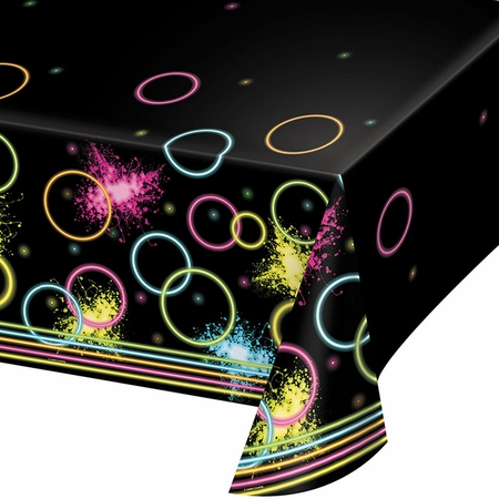 Glow Party Plastic Tablecloths 6 ct