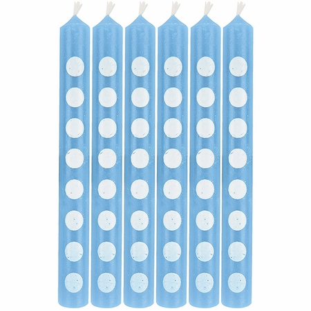 Pastel Blue Polka Dot Candles 72 ct