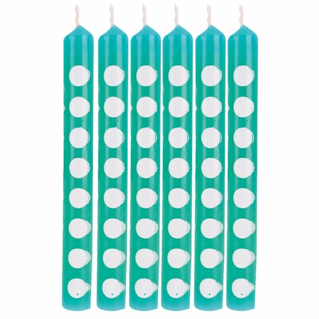 Teal Lagoon Polka Dot Candles 72 ct